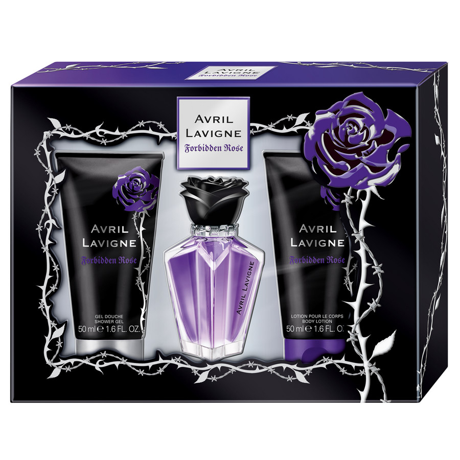 avril lavigne forbidden rose eau de parfum gift set. Black Bedroom Furniture Sets. Home Design Ideas